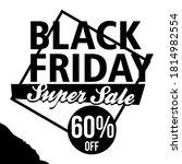black friday sale flyer  banner ... | Shutterstock .eps vector #1814982554