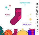 christmas stocking sock filled...