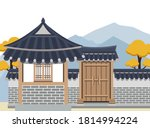 vector illustration of korean... | Shutterstock .eps vector #1814994224