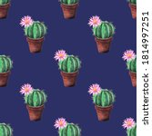 Seamless  Watercolor Pattern Of ...