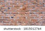 dark brown old bricks wall | Shutterstock . vector #1815012764