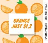 this is orange poster design... | Shutterstock . vector #1815016961