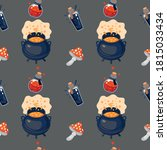seamless vector pattern with... | Shutterstock .eps vector #1815033434