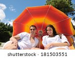 happy young couple have fun and ... | Shutterstock . vector #181503551