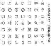 basic ui line icons set. linear ...