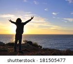 Silhouette Of A Child With The...