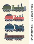 Retro Steam Locomotives Set....