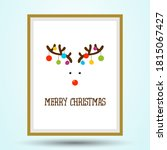 merry christmas   calligraphy... | Shutterstock .eps vector #1815067427