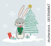 cute winter animals  merry...   Shutterstock .eps vector #1815068867