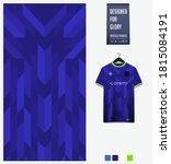 fabric textile design. blue... | Shutterstock .eps vector #1815084191