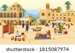vector illustration of arabic...   Shutterstock .eps vector #1815087974