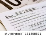 tax form 1040ez with separate... | Shutterstock . vector #181508831