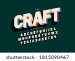 vector of stylized crafted font ... | Shutterstock .eps vector #1815090467