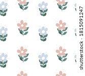 floral seamless pattern. vector ... | Shutterstock .eps vector #1815091247