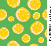seamless background with limon | Shutterstock .eps vector #181511729