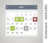 flat calendar for your site or... | Shutterstock .eps vector #181511801