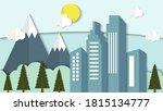 flat design building with... | Shutterstock .eps vector #1815134777