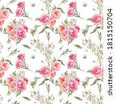 watercolor blooming flowers... | Shutterstock . vector #1815150704