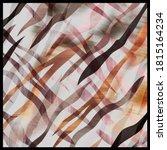 Effect Zebra Pattern  Silk...