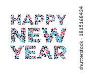 2021 happy new year design.... | Shutterstock .eps vector #1815168434