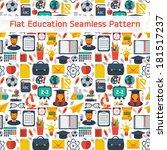 flat education seamless pattern | Shutterstock .eps vector #181517237