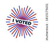 patriotic 2020 voting poster.... | Shutterstock .eps vector #1815175631