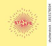 please  stay safe banner design ... | Shutterstock .eps vector #1815178034