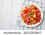 tomato salad with crispy fried...