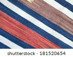 woven fabric with color stripes ... | Shutterstock . vector #181520654