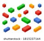 block toy brick building icon....   Shutterstock .eps vector #1815237164