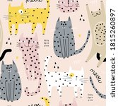 seamless childish pattern with... | Shutterstock .eps vector #1815260897