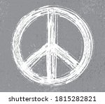 grunge peace symbol.dirty peace ... | Shutterstock .eps vector #1815282821