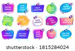 we are hiring banners. join our ...   Shutterstock . vector #1815284024