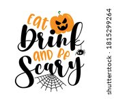 eat drink and be scary ... | Shutterstock .eps vector #1815299264