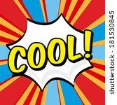 pop art design over colorful... | Shutterstock .eps vector #181530845