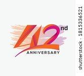 42nd anniversary logo vector...   Shutterstock .eps vector #1815336521