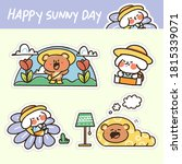 cute adorable happy sunny day...   Shutterstock .eps vector #1815339071
