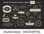 vintage typographic decorative... | Shutterstock .eps vector #1815339701