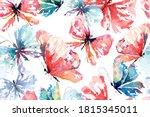 Seamless Pattern Of Butterflies ...