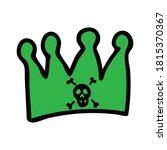 Punk Rock Crown Vector...