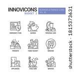 budget   vector line design...   Shutterstock .eps vector #1815373631