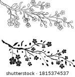 branch of cherry blossom on... | Shutterstock .eps vector #1815374537