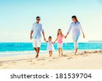 happy family having fun walking ... | Shutterstock . vector #181539704