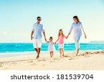 happy family having fun walking ... | Shutterstock . vector #181539704