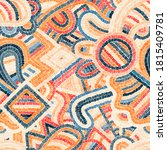 seamless embroidered pattern.... | Shutterstock .eps vector #1815409781