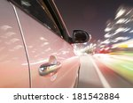 car driving fast down in the... | Shutterstock . vector #181542884