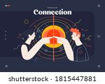business topics   connections ... | Shutterstock .eps vector #1815447881
