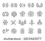 social distancing icons set.... | Shutterstock .eps vector #1815465077