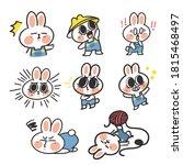 adorable lovely bunny girl...   Shutterstock .eps vector #1815468497