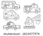 funny coloring kids transport... | Shutterstock .eps vector #1815477974